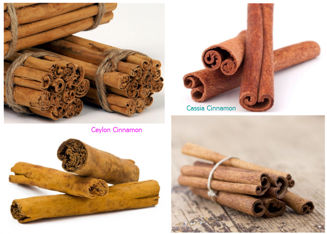 Types of cinnamon