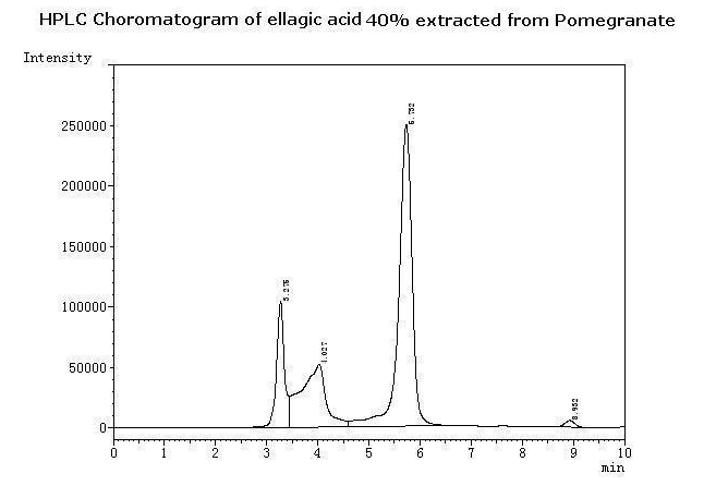Ellagic acid HPLC choromatogram
